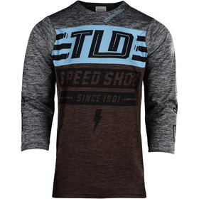 Troy Lee Designs Ruckus 3/4 Jersey Men bolt/heather dark moka/heather gray